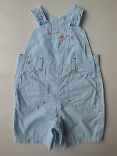 'MOTHERCARE' BABY BOY or GIRL OVERALLS DUNGAREES SHORTS SIZE 0000 NEWBORN