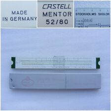 Vintage Slide Rule A.W. Faber Castell MENTOR 52/80  w/Case