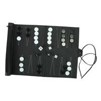 Set de Backgammon Premium pour Voyage Portable, Retrousser