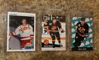 (3) Pavel Bure 1990-91 Upper Deck Rookie 1991-92 Pro 1993 Parkhurst card lot RC