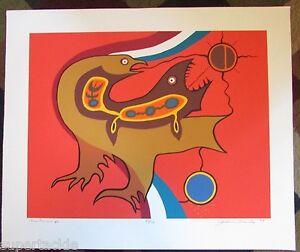 JACKSON BEARDY 1944 - 1984 Woodlands artist signed & numbered print ONE LANGUAGE