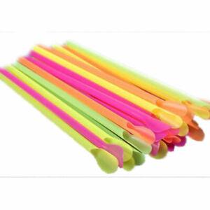 100 x Multicoloured Spoon Straws for Slush Puppie/Slushies  Parties Home Outdoor