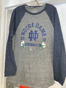 Notre Dame Fighting Irish Fanatics Men's Crew Neck Long Sleeve NWT Size Medium