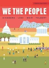 We the People by Benjamin Ginsberg (2014, 10th Edition, Hardcover) Exam Copy