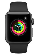 Apple Watch Series 3 42mm Space Grau Aluminium Gehäuse Schwarz Sportarmband