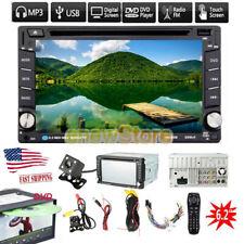 Car Stereo Bluetooth Radio 2 Din CD DVD Player Multimedia For GPS Navigation+Cam