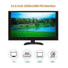 "11.6"" IPS CCTV PC LCD Monitor HD 1920*1080 Screen HDMI1/HDMI2/VGA/USB/MicroSD/AV"