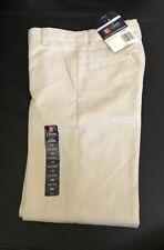 """Chaps Size 10 Slim School Approved """"Cement� Flat Front Pants"""