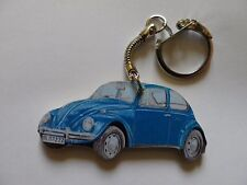 BLUE VW BEETLE CAR KEYRING. NEW. KEY RING
