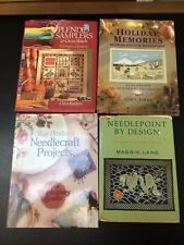 Lot 4 Needlepoint Cross Stitch Books 135+ Patterns Hardback