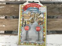 Noma DickensVille Collectibles Stop Signs Traffic Signals Village Decoration