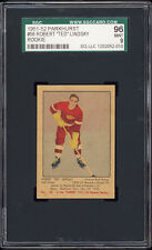 1951-52 Parkhurst #56 Ted Lindsay Rookie Card -- SGC 96 MINT!