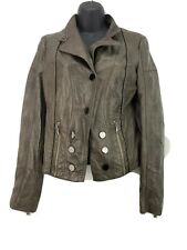 Buckle Daytrip Women's Faux Leather Jacket Coat Zippers Size Small