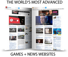 THE BIGGEST AUTOMATED NEWS AND GAMES WEBSITE MAKE MONEY ON ADS ONLINE BUSINESS
