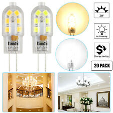 20-pack G4 20W 2835 SMD Bi-pin 12 LED Lamp Light Bulb DC 12V 6000K White& Warm