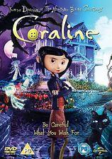 Coraline -2012 Special Edition  Dakota Fanning, Teri Hatcher NEW UK REGION 2 DVD
