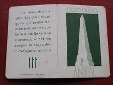 Original Fascist Card Tessera Pnf Opera Nazionale Balilla Onb 1936 Vipiteno (Bz)
