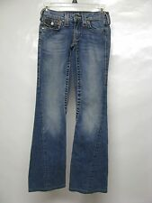 """WOMENS TRUE RELIGION """"JOEY"""" JEANS, TWISTED FLARE LEGS, SIZE 24, MADE IN THE USA!"""