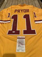 Terrell Pryor Sr Autographed/Signed Jersey JSA COA Washington Redskins