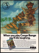 CONGO BONGO__Original 1984 print AD / game promo__SEGA__Atari__Commodore 64__PC