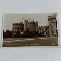 Round Tower & Edward III Tower, Windsor Castle England RPPC Vintage Postcard