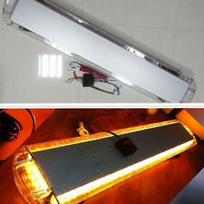 "DC 12-24V 88W 88LED 47"" Emergency Flash Strobe Work Light Bar Amber Roof Top Kit"