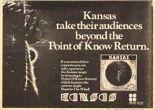 Kansas Point Of Know Return UK Tour advert 1978