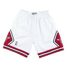 Mitchell & Ness NBA Swingman Chicago Bulls 97-98 Home Shorts White sz Large MJ