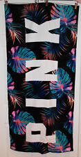 "Victoria's Secret PINK Beach Towel *New w/o Tag* Black Fern *58"" L x 28"" W*"