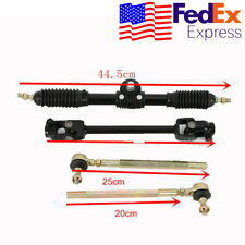 110cc Go Kart Steering Wheel Parts Assembly Tie Rod Rack Adjustable Shaft Usa