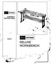 1970s Craftsman 10231  Deluxe Workbench Instructions
