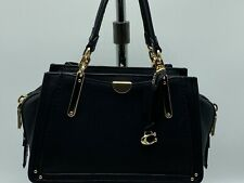 NWT COACH 36407 Dreamer 21 Satchel in Smooth Leather Black/Gold mini MSRP $350