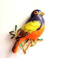 Joan Rivers Bunting Bird Multi Color Flights of Fantasy Pin Brooch