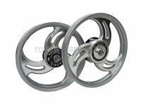 Royal Enfield Standard 500cc Front and Rear 3 Spoke Silver Alloy Wheel Rims