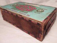 Vintage Kessler's Wood Cigar Box Evansville Indiana