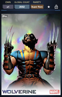 Topps Marvel Collect! Wolverine X-Icons Rainbow Motion SUPER RARE X-Icon