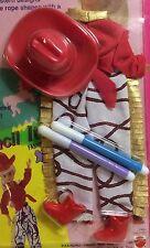 "NRFP SKIPPER Fashion ""ACTIVITIES STENCIL"" 1993 Mattel #11604 Doll Clothes COWBOY"