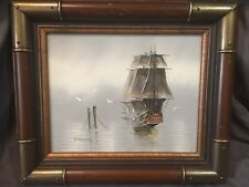 Ship Oil Painting by Danny Garcia - Framed