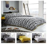 Luxuries Pom Pom Duvet Cover Set, Designer Bedding Collection Grey Ochre Bed Set