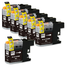 6 BLACK Replacement Ink for Brother LC103 LC101 MFC J245 J285DW J470DW J475DW