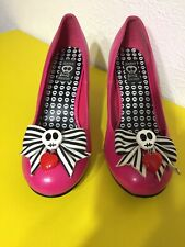 Hot Topic Pink High Heels Skulls & Bows Hot Pink Jessica Louise Halloween Shoes