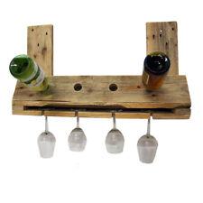 """Flaschenregal """"Shoot"""" aus Palettenholz für 4 Flaschen und 4 Gläser"""