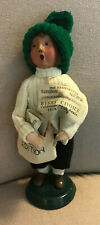 1998 Byers Choice Caroler - Newspaper Boy - 20th Anniversary - signed by Joyce