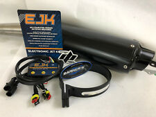 06-14 Grizzly 700 Barkers Black Slip On Muffler Pipe Exhaust Dobeck EJK Fuel EFI