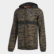 ADIDAS SKATEBOARDING CAMOUFLAGE BB WIND PACKABLE JACKET CAMO PRINT/BLACK/ ORANGE