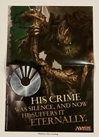 MTG Magic The Gathering Mirrodin Besieged His Crime Promotional Poster NEW