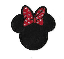 Minnie Mouse - Disney - Red & White Bow - Embroidered Iron On Applique Patch
