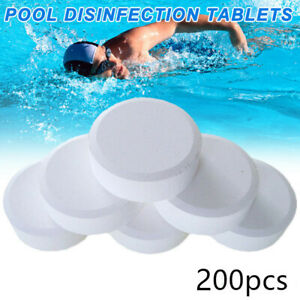 200 Pcs Chlorine Tablets Multifunction Instant Disinfection For Swimming Pool US