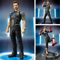 2018 Iron Man Tony Stark with Tony PVC Action Figure Collectible Toy Model 17cm