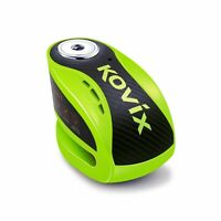 KOVIX ALARMED MOTORCYCLE DISC LOCK FLURO GREEN KOKNX6FG
